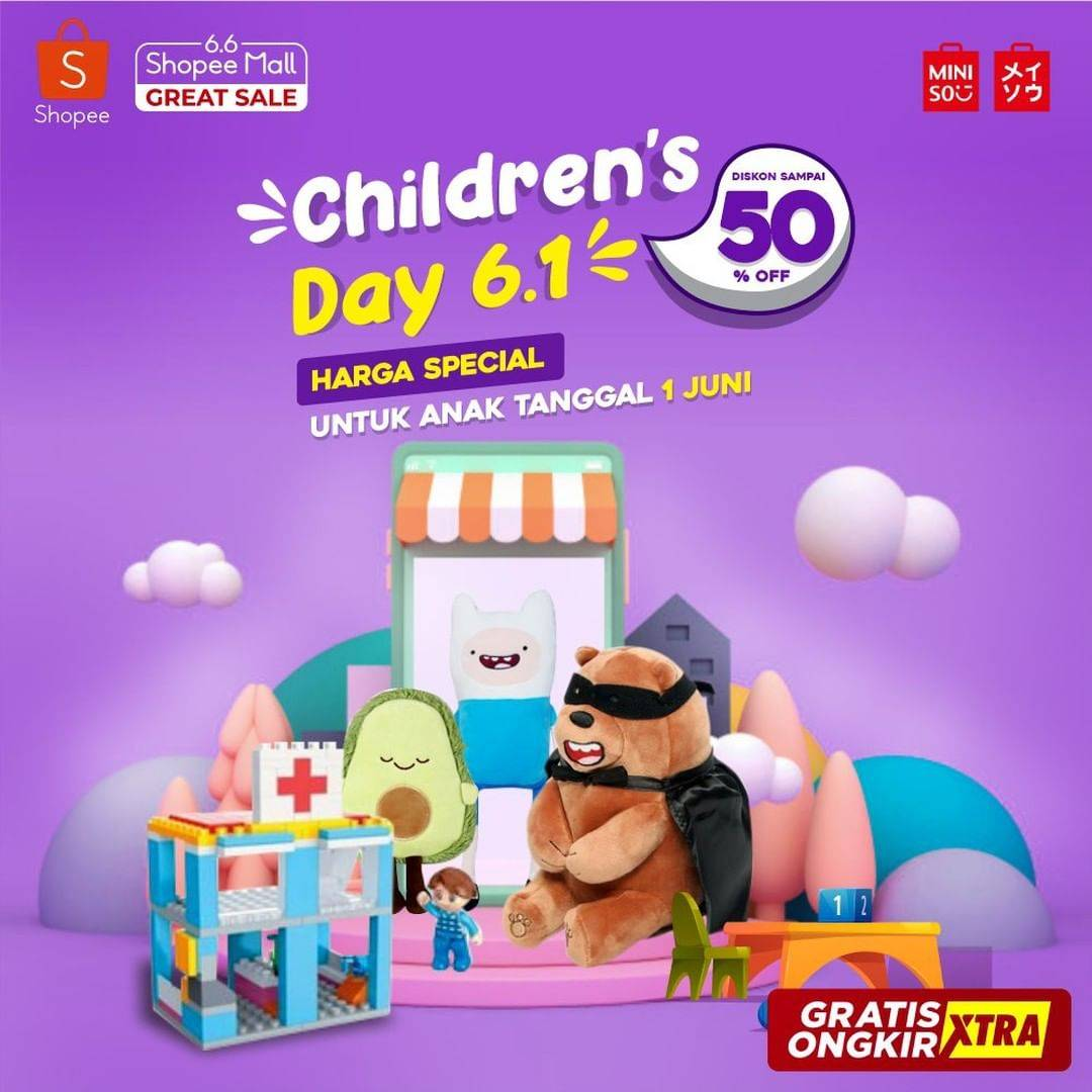 Diskon Promo Miniso Hari Anak Internasional Dapatkan Diskon Hingga 50% Untuk Item Favorit Di Shopee