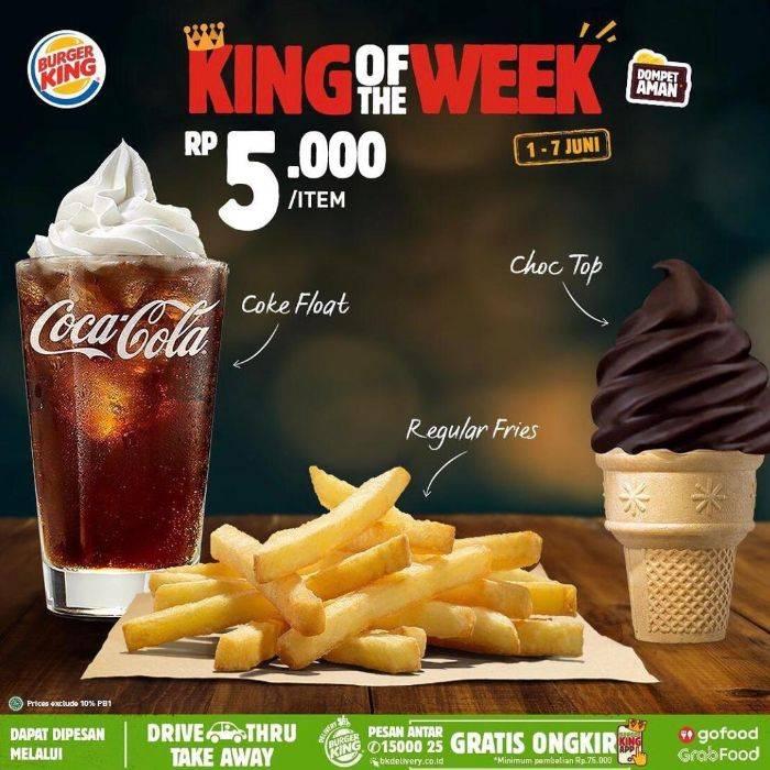 """Diskon Promo Burger King """"King Of The Week"""" Periode 1 - 7 Juni 2020"""