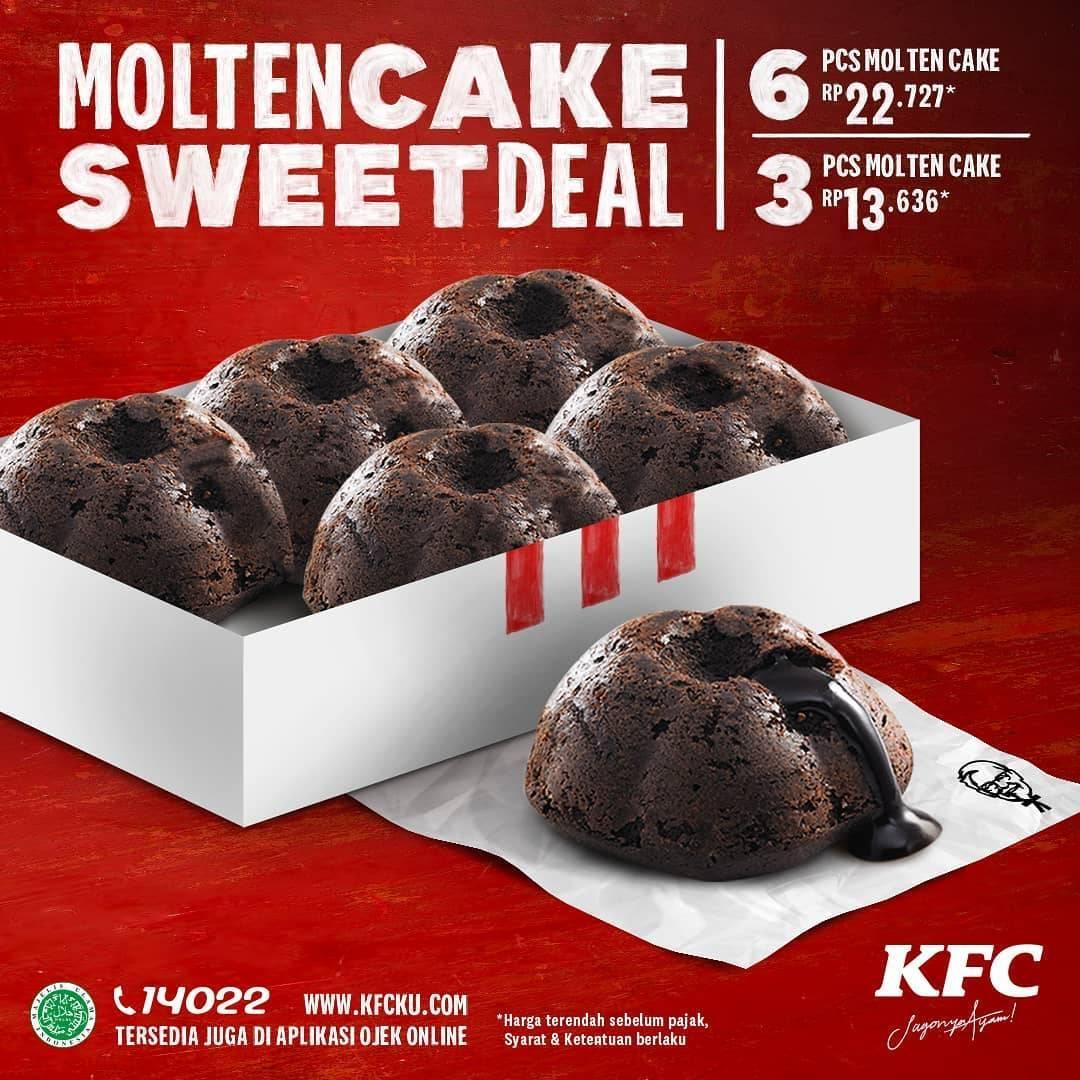 Diskon Promo KFC Molten Cake Sweet Deal Dengan Harga Mulai Dari Rp. 13.636