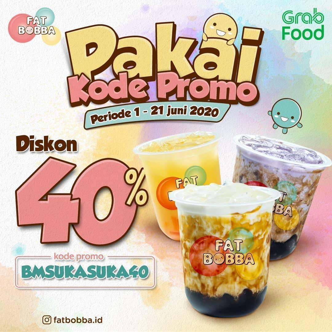 Diskon Promo Fat Bobba Diskon 40% Untuk Pemesanan Minuman Melalui GrabFood