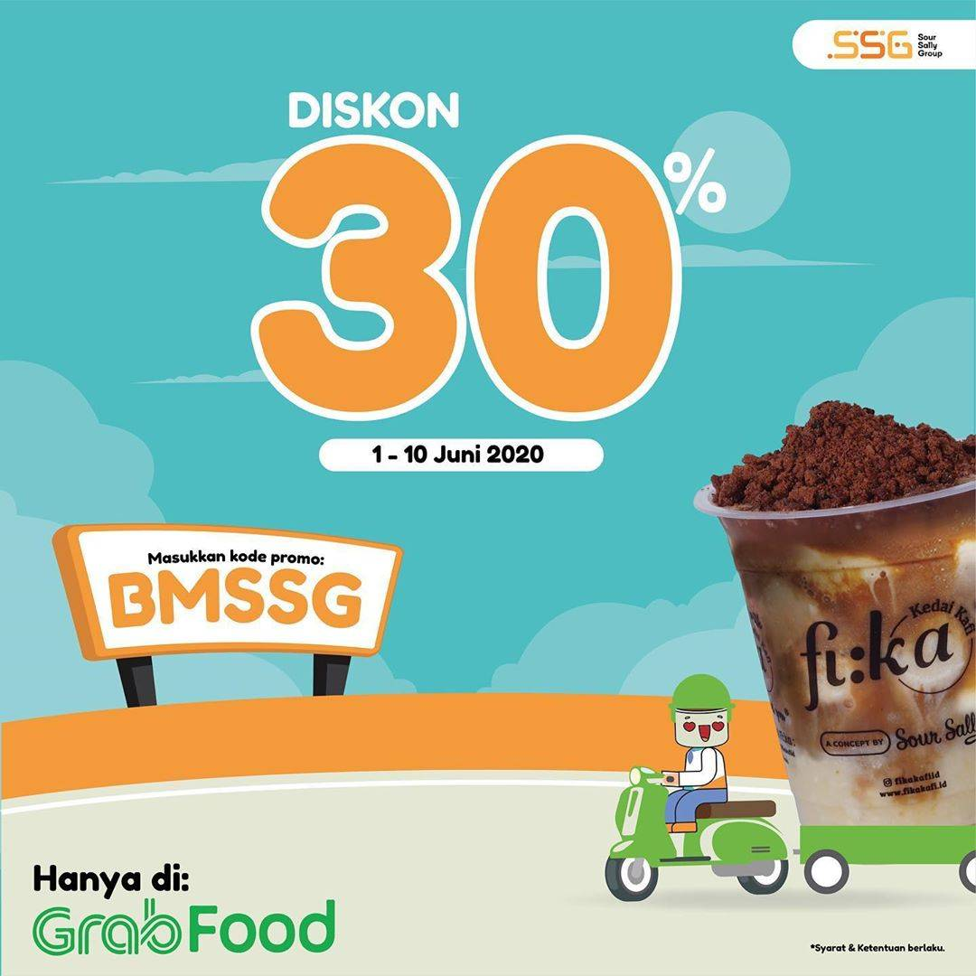 Diskon Promo Fika Kafi Diskon 30% Untuk Pemesanan Menu Melalui GrabFood