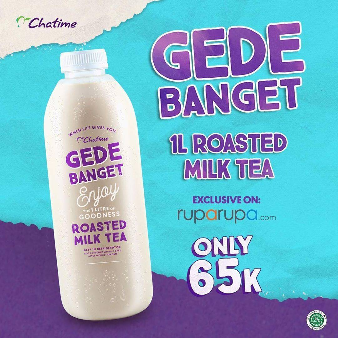 Diskon Promo Chatime Roasted Milk Tea 1L Cuma Rp. 65.000