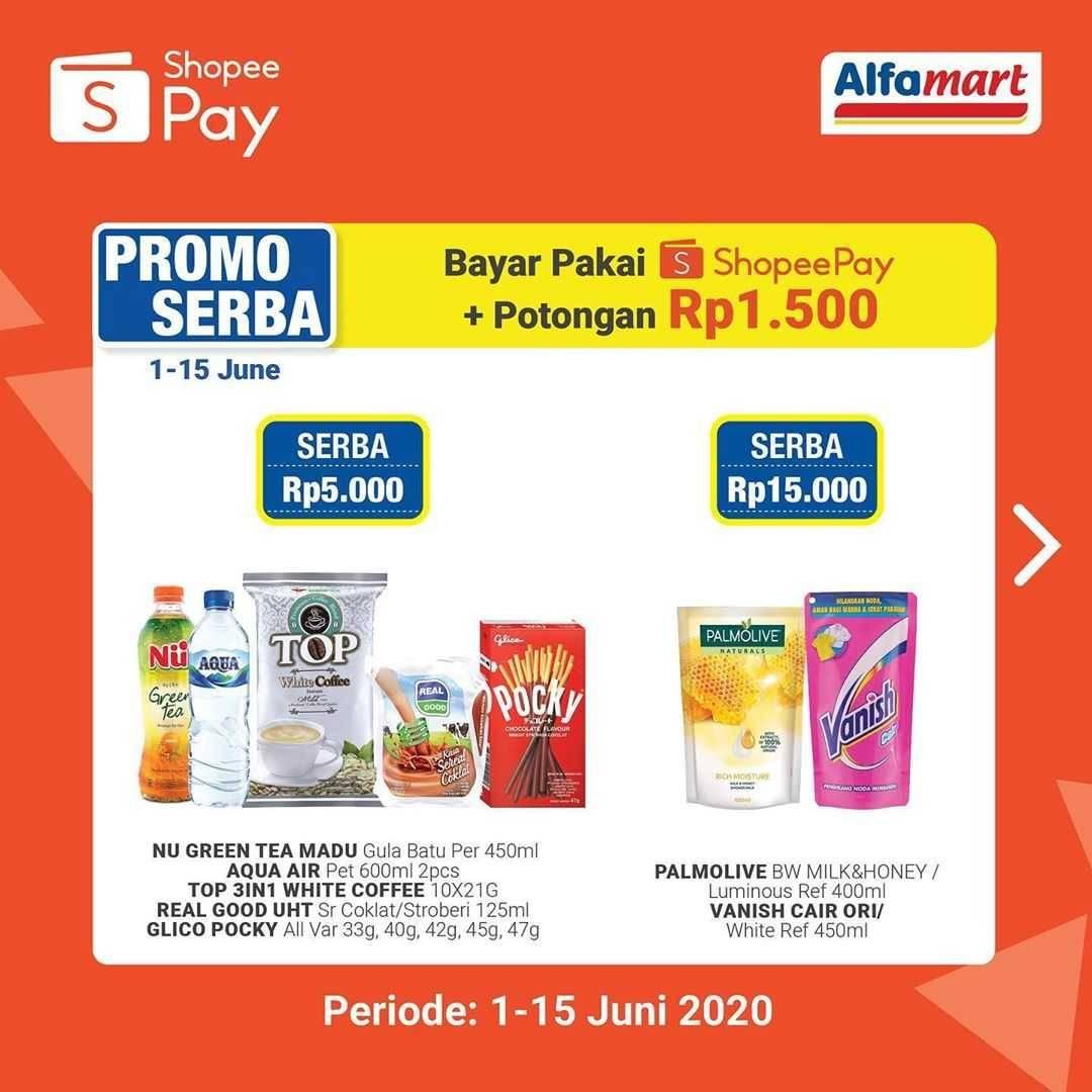 Promo diskon Promo Alfamart Belanja Murah Meriah Dengan Menggunakan ShopeePay