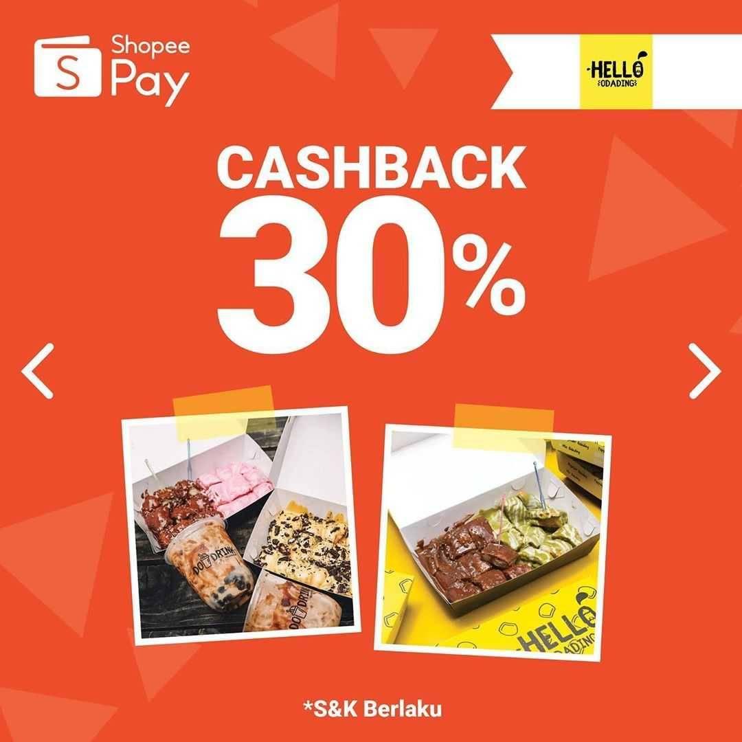 Promo diskon Promo ShopeePay Cashback Hingga 60% Di Beberapa Merchant Pilihan