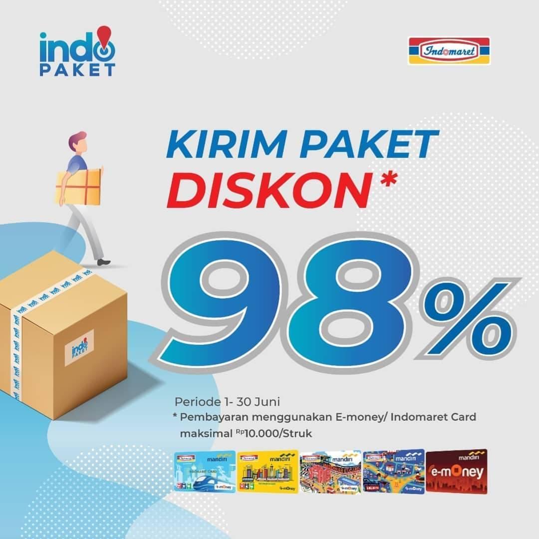 Diskon Indomaret IndoPaket kirim paket diskon 98%!