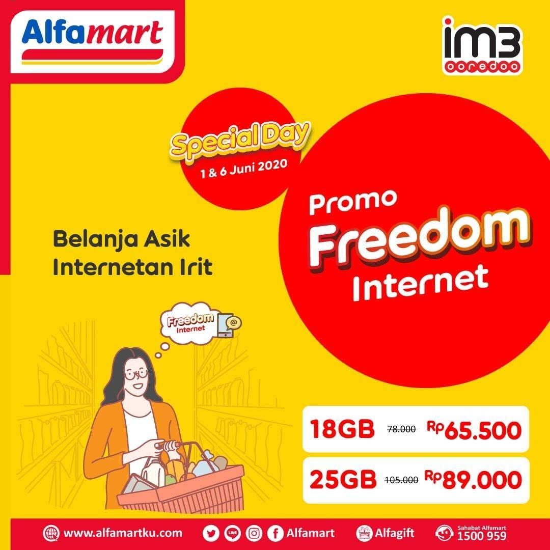 Diskon Promo Alfamart Promo Freedom Internet IM3 Ooredoo