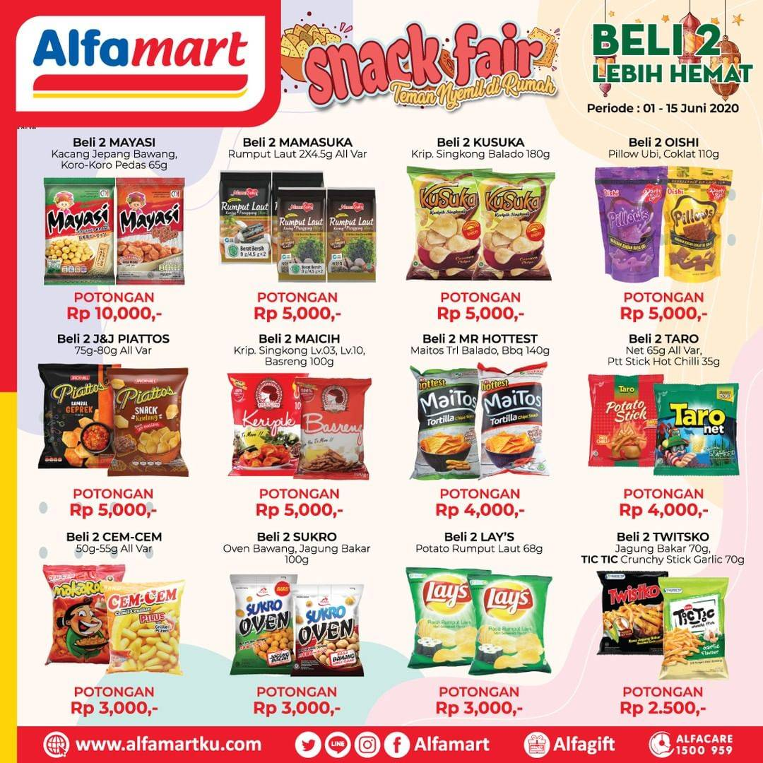 Diskon Katalog Promo Alfamart Snack Fair Periode 1 - 15 Juni 2020