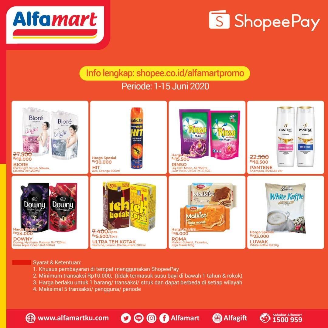 Diskon Katalog Promo Alfamart ShopeePay Periode 1 - 15 Juni 2020