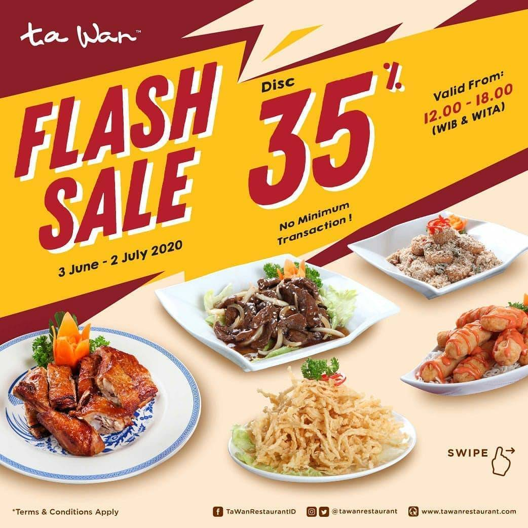 Diskon Promo Ta Wan Restaurant Diskon 35% Untuk Pemesanan Menu Favorit