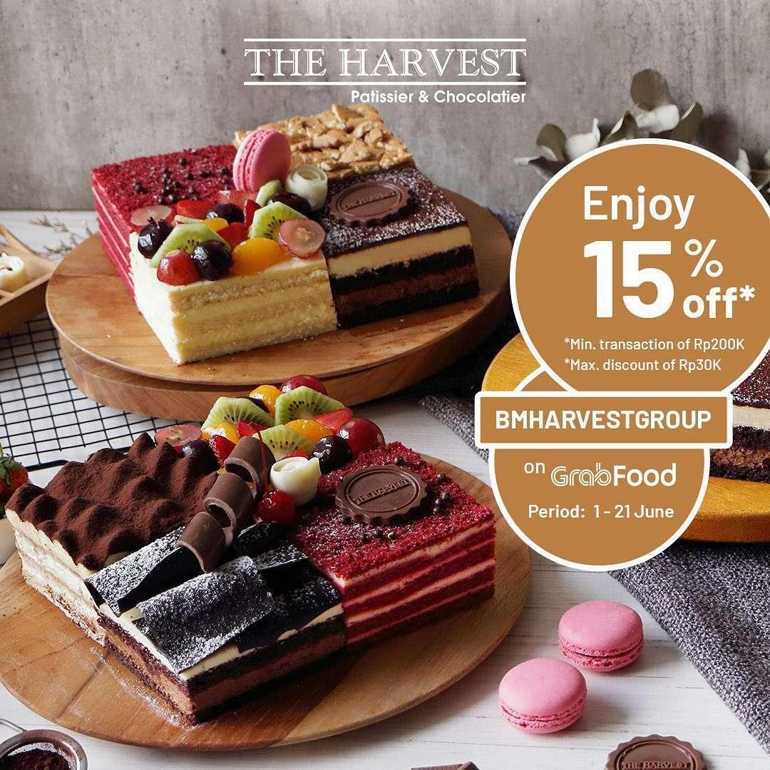 Diskon Promo The Harvest Diskon 15% Untuk Pemesanan Melalui GrabFood