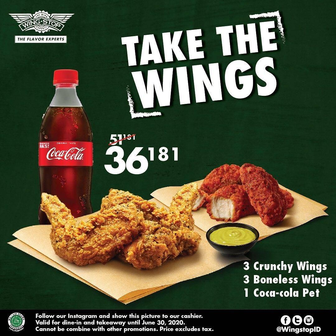 Diskon Promo Wingstop Paket Take The Wings Hanya Rp. 36.181