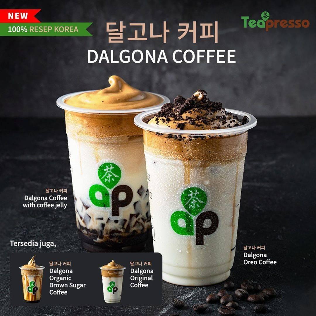 Diskon Promo Tea Presso Dalgona Coffee Series Only For Rp. 20.000