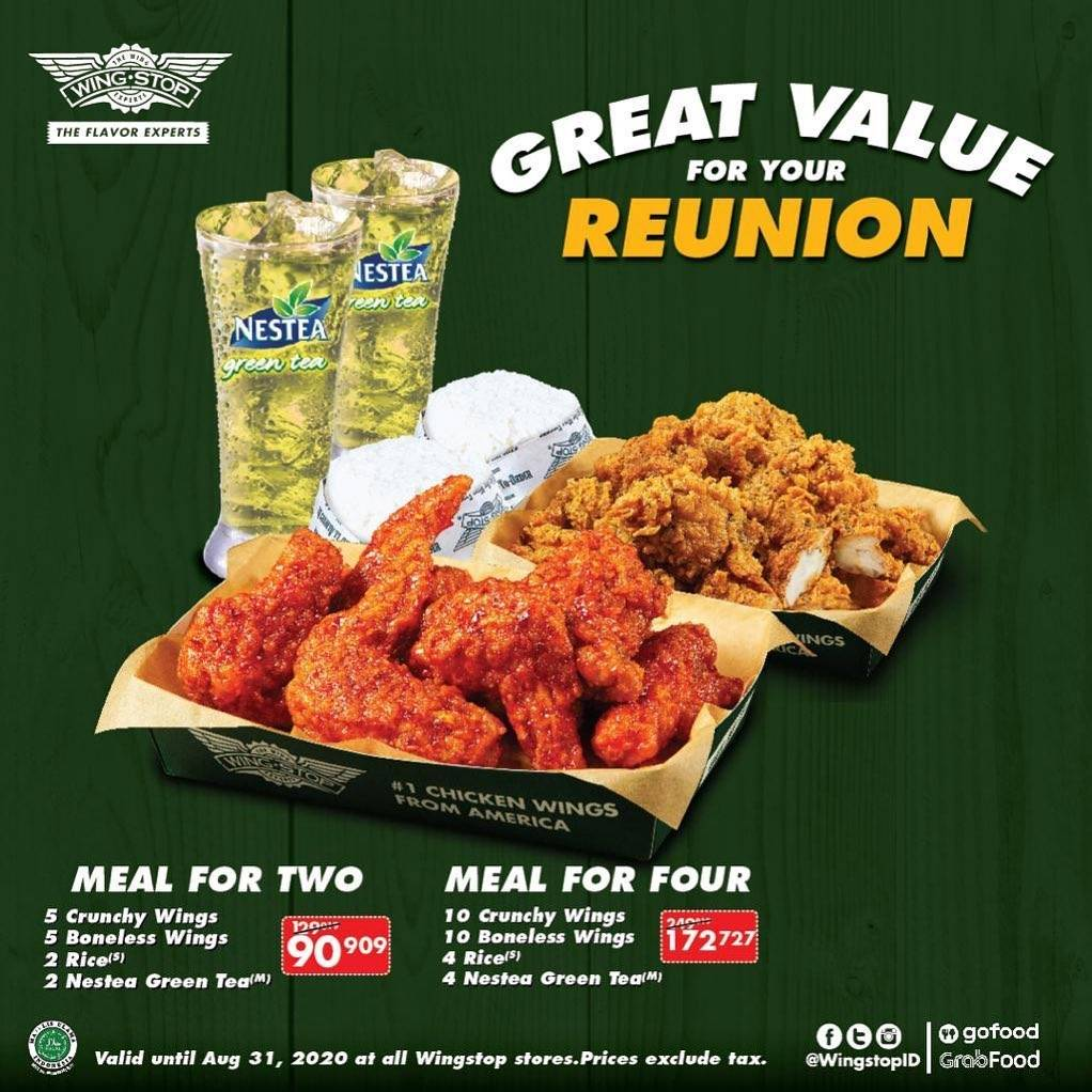 Diskon Promo Wingstop Great Value For Your Reunion Start From Rp. 90.909