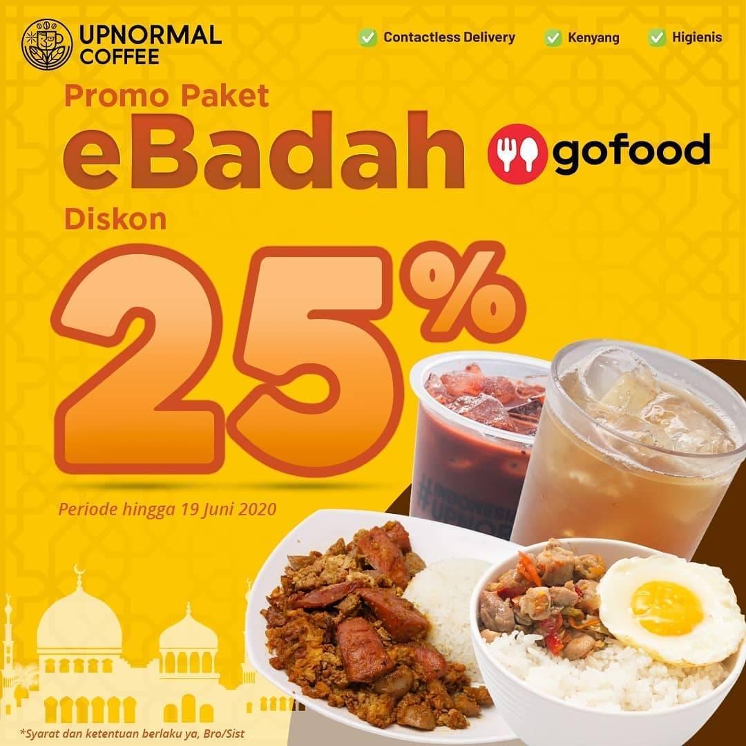 Diskon Promo Warunk Upnormal Diskon 25% Untuk Pemesanan Paket eBadah Melalui GoFood