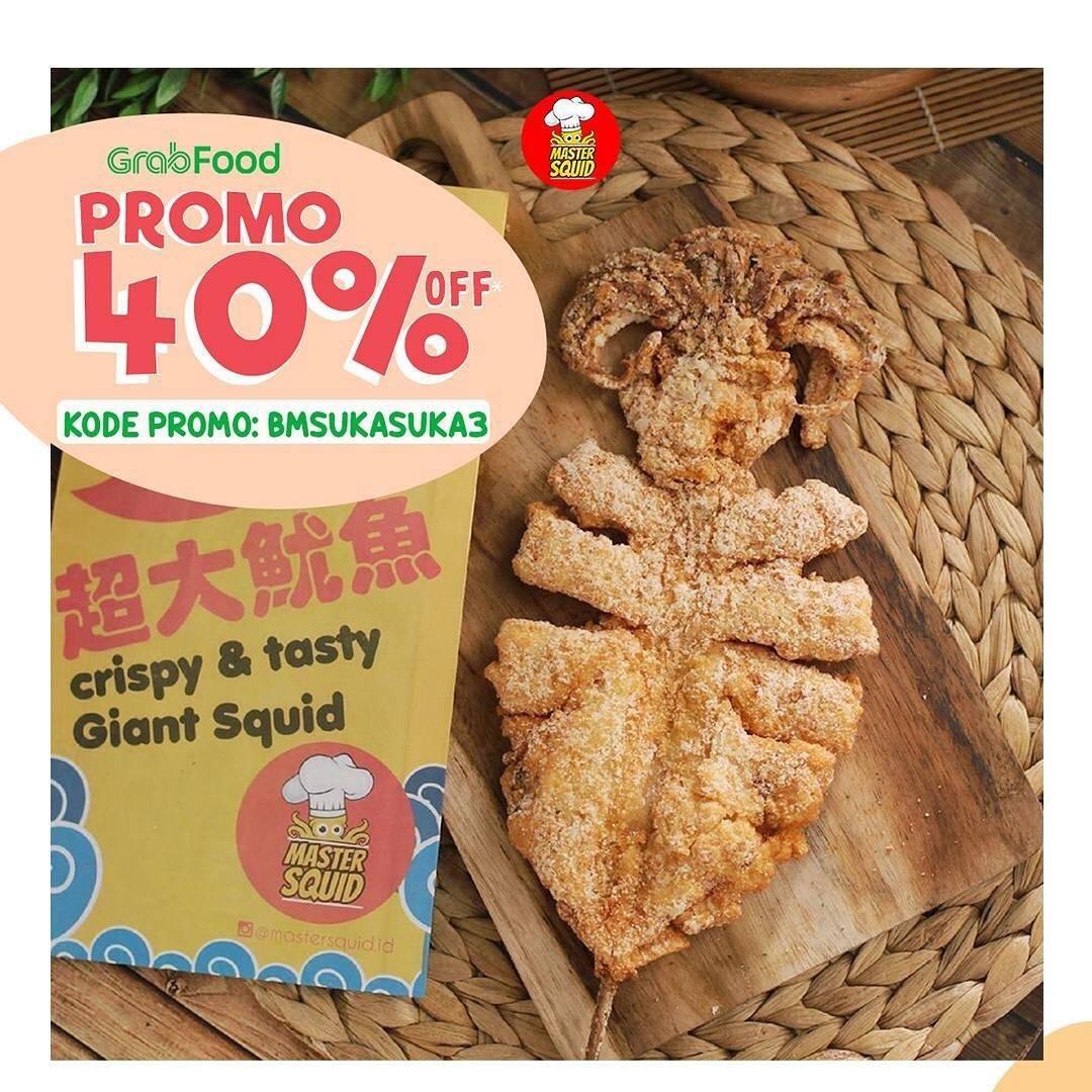 Diskon Promo Master Squid Diskon 40% Untuk Pemesanan Melalui GrabFood