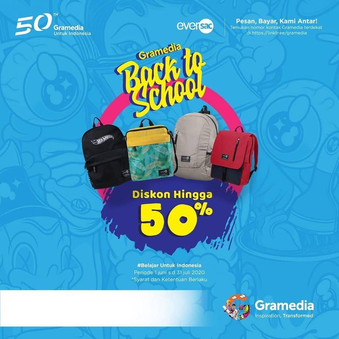 Diskon Promo Gramedia Back to School Dapatkan Diskon Hingga 50% Untuk Tas Eversacbag