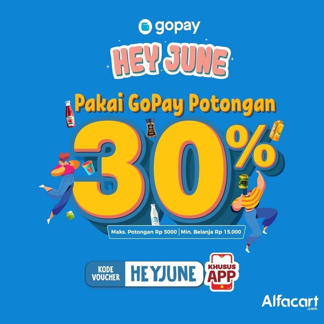 Diskon Promo Alfacart Extra Potongan 30% Dengan Transaksi Menggunakan Gopay