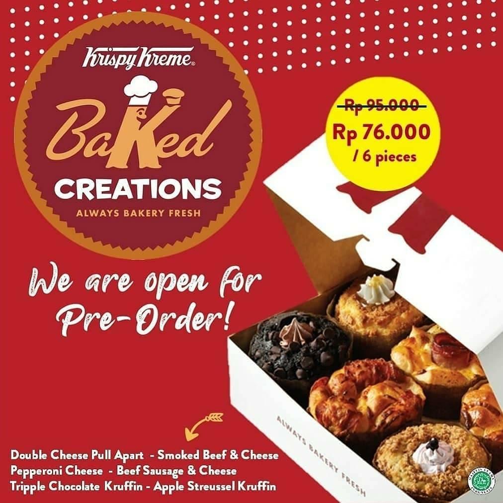 Diskon Promo Harga Spesial Krispy Kreme Baked Creations Hanya Rp. 76.000/ 6 Pcs