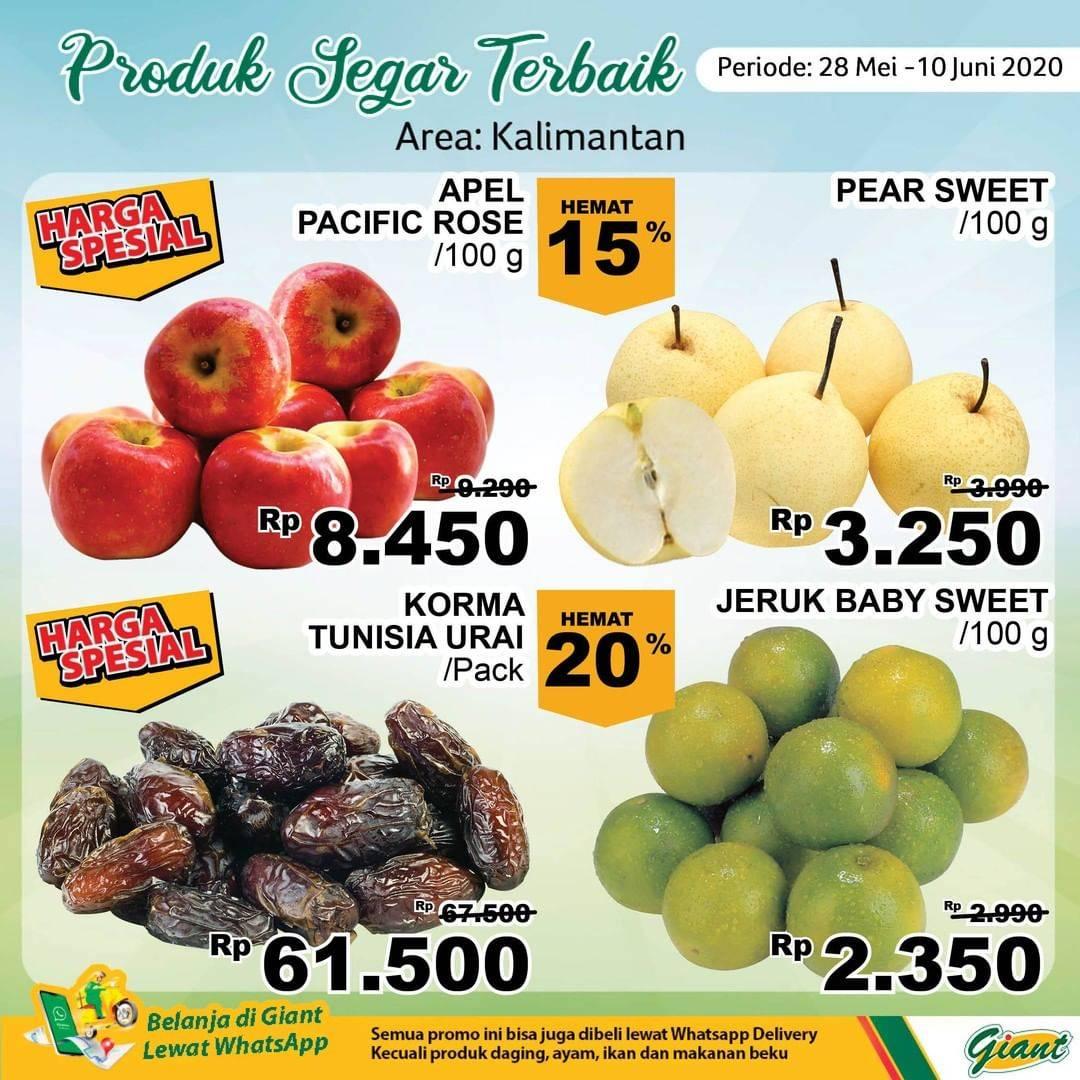 Diskon Katalog Promo Giant Produk Segar Terbaik (Area: Kalimantan) Periode 28 Mei - 10 Juni 2020