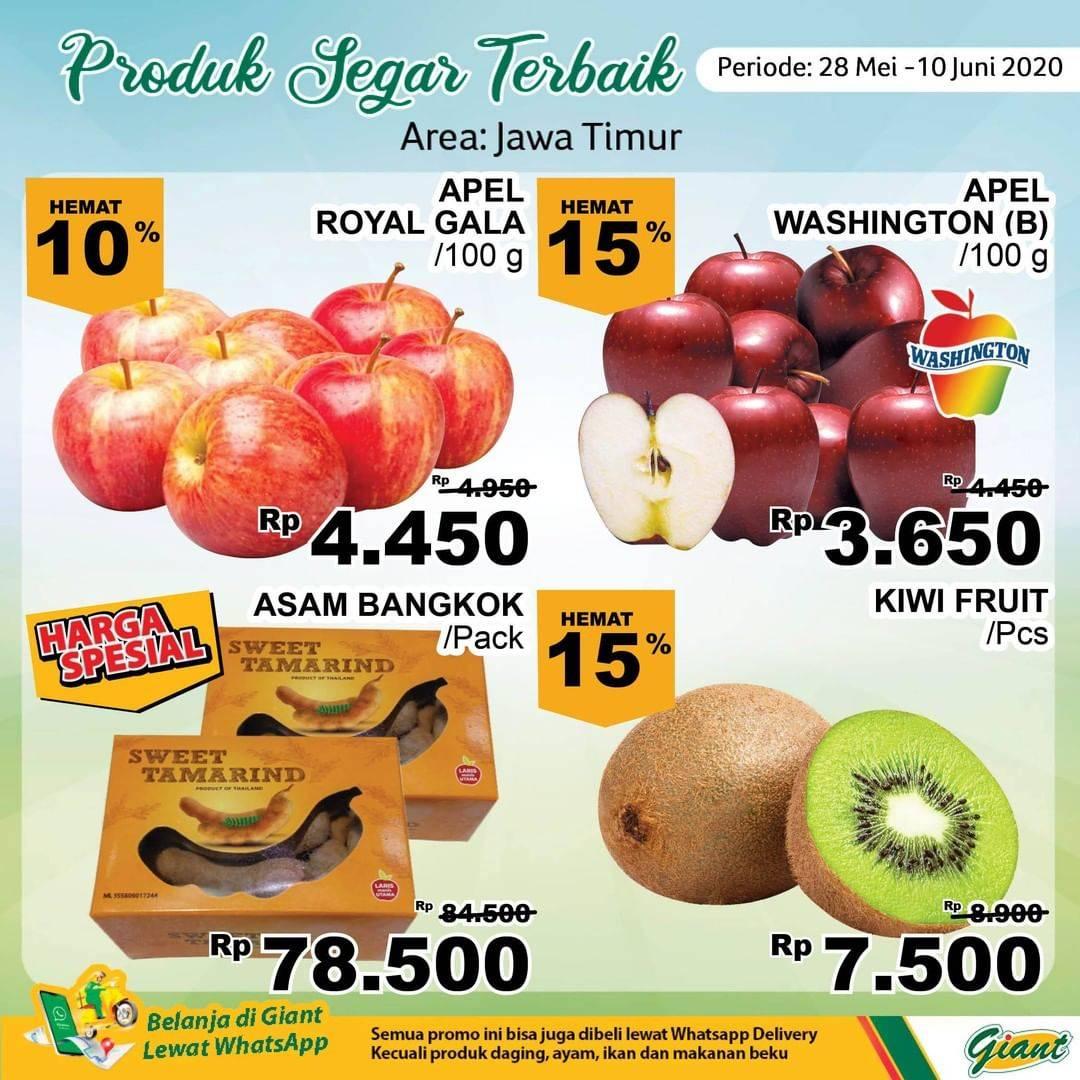 Diskon Katalog Promo Giant Produk Segar Terbaik (Area: Jawa Timur) Periode 28 Mei - 10 Juni 2020
