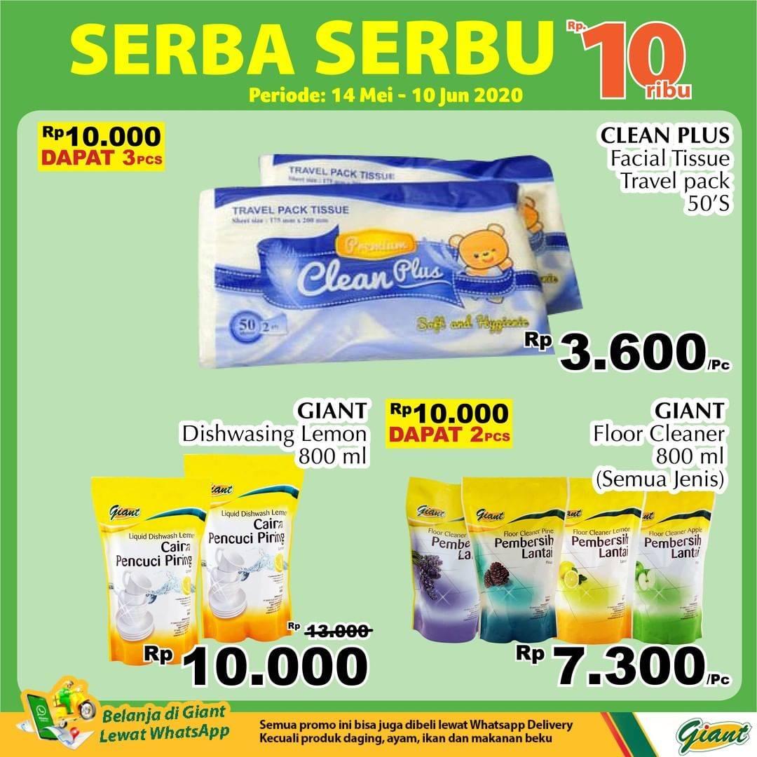 Diskon Katalog Promo Giant Serba Serbu Rp. 10.000 Periode 14 Mei - 10 Juni 2020