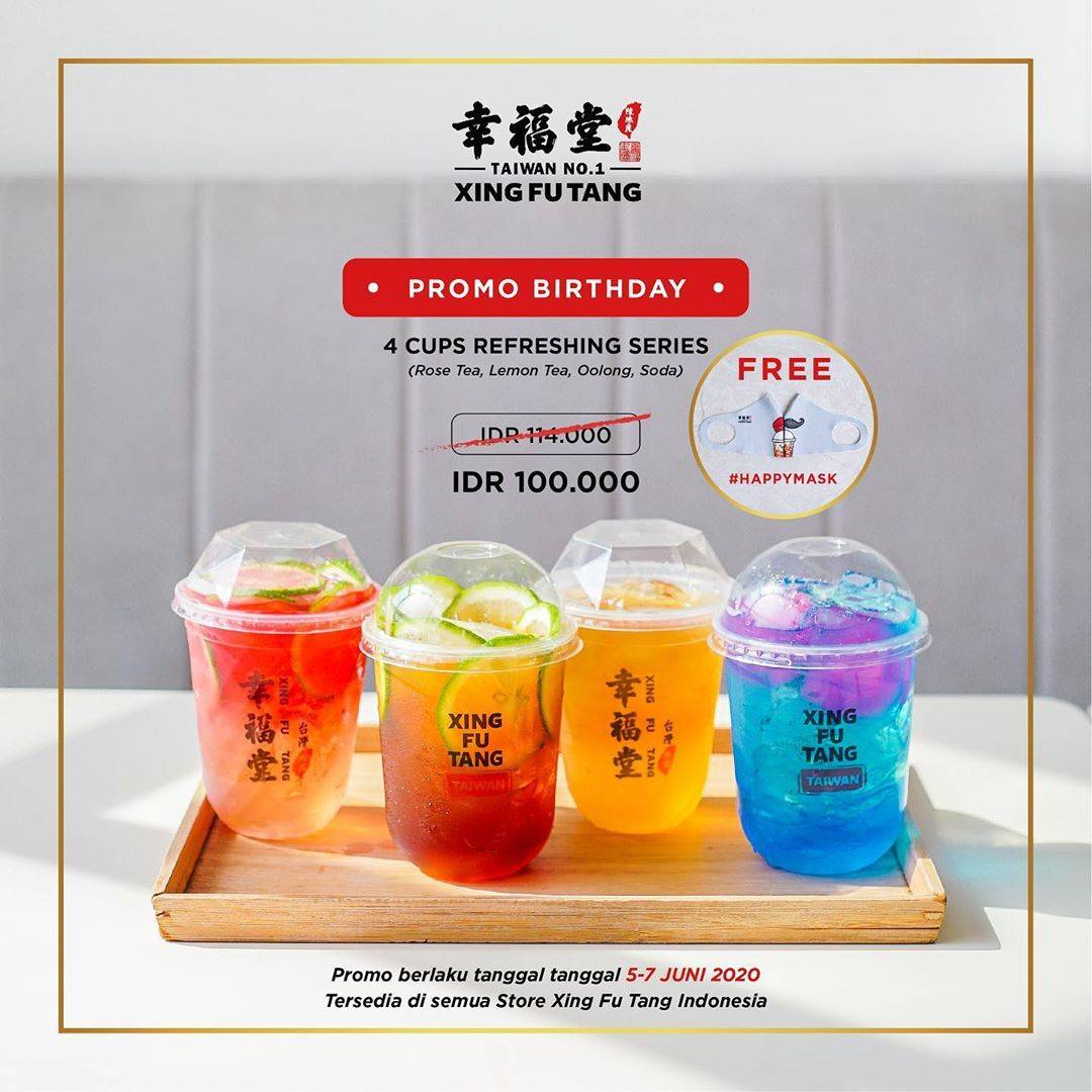 Diskon Promo Xing Fu Tang 4 Cups Refreshing Series Only For IDR. 100.000