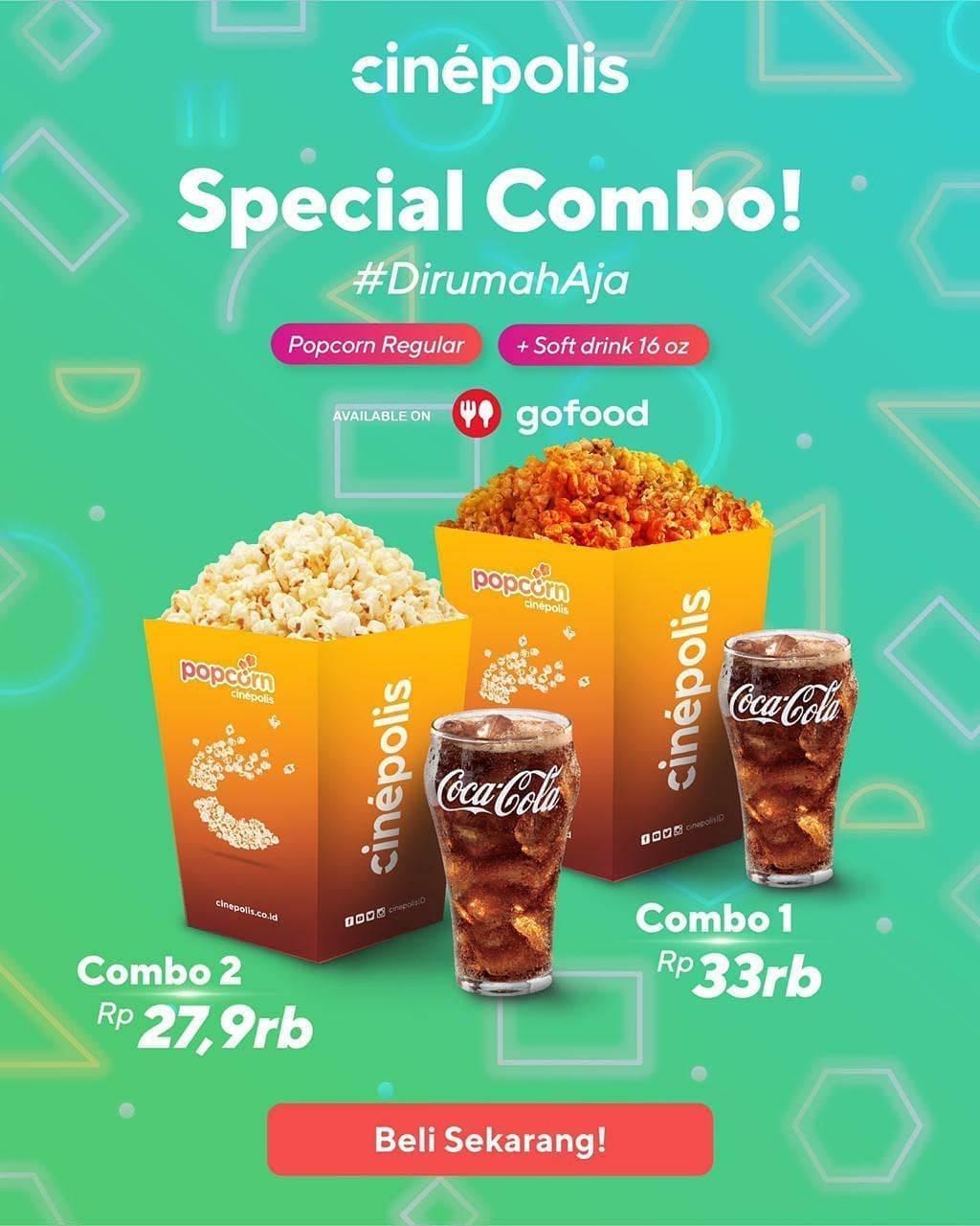 Diskon Promo Cinepolis Paket Special Combo Mulai Dari Rp. 27.900 Untuk Pemesanan Melalui GoFood