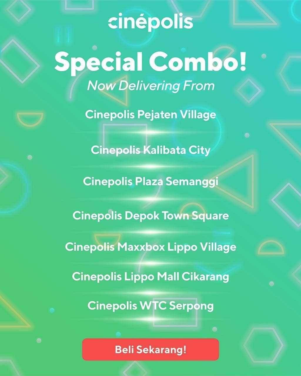 Promo diskon Promo Cinepolis Paket Special Combo Mulai Dari Rp. 27.900 Untuk Pemesanan Melalui GoFood