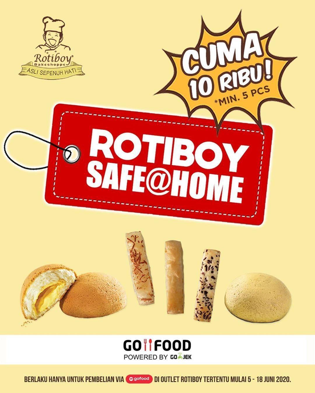 Diskon Promo Roti Boy Paket Safe at Home Hanya Rp. 10.000 Untuk Pemesanan Melalui GoFood