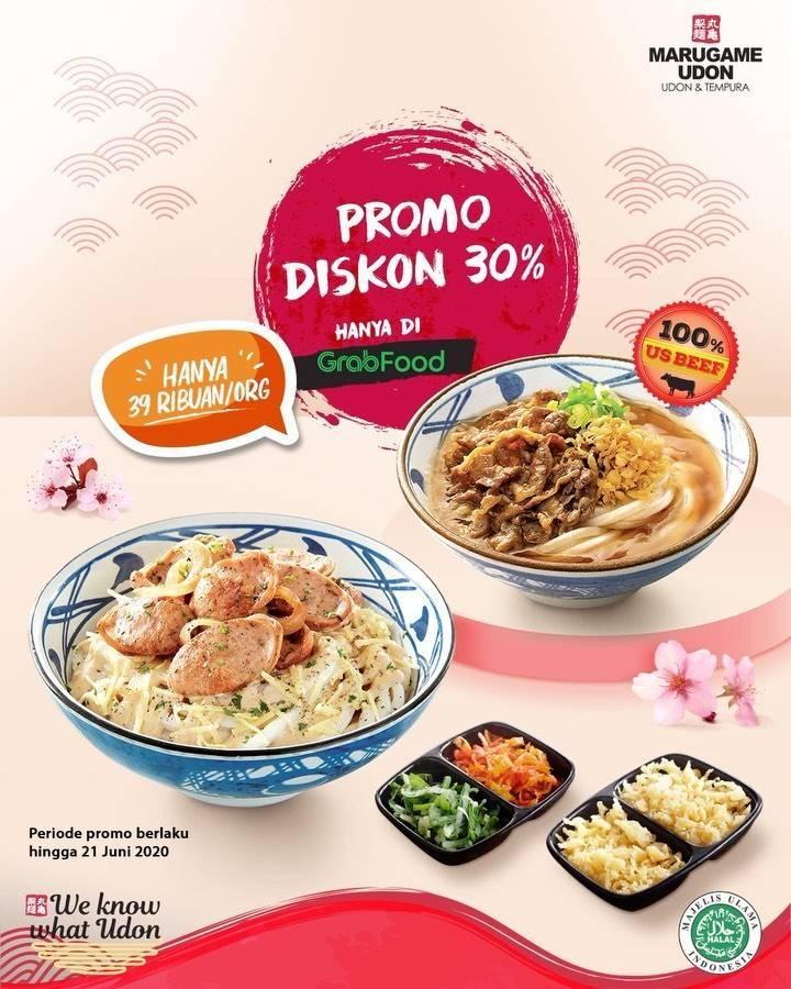 Diskon Promo Marugame Udon Diskon 30% Untuk Pemesanan Menu Melalui GrabFood