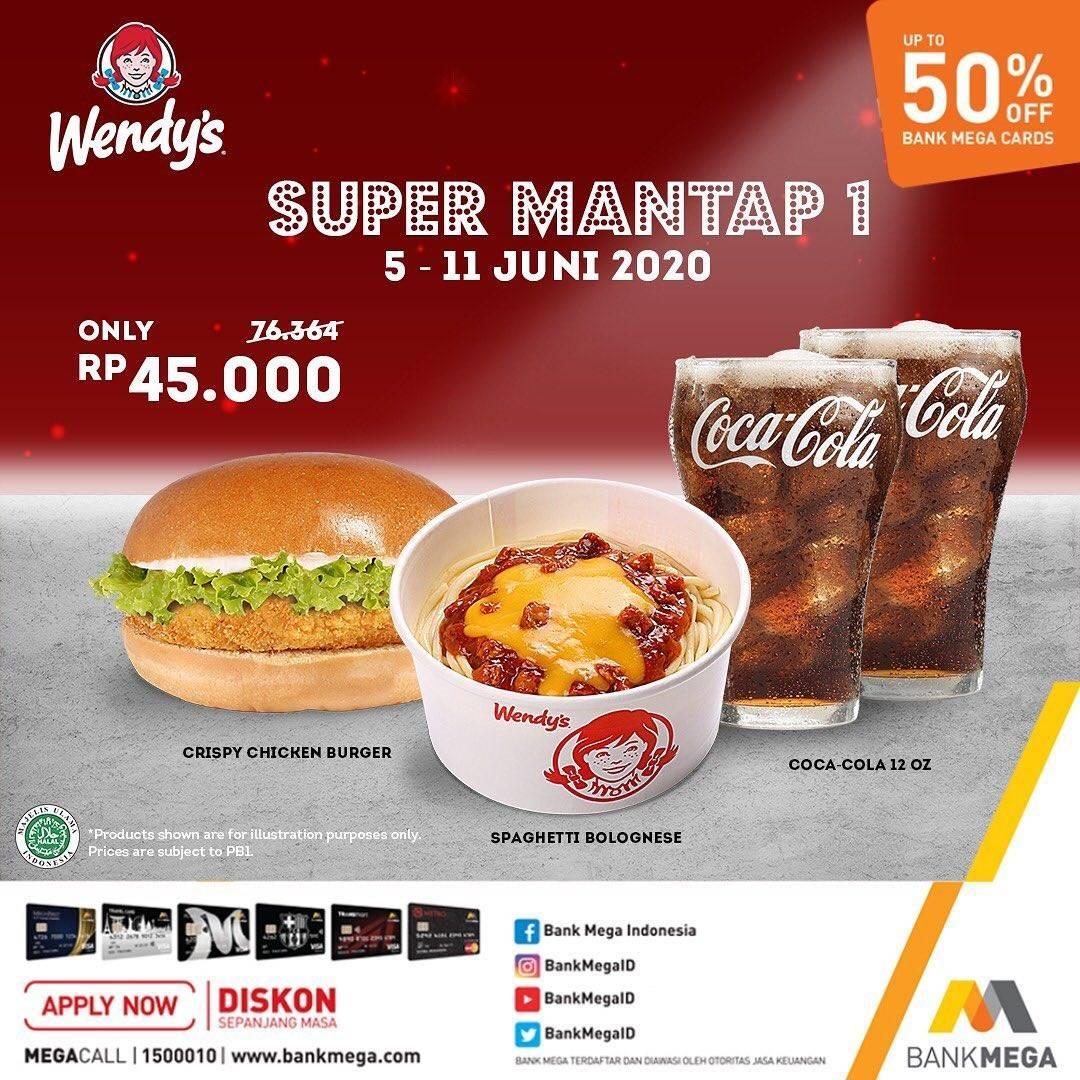 Diskon Promo Wendys Harga Spesial Paket Super Mantap 1 Cuma Rp. 45.000