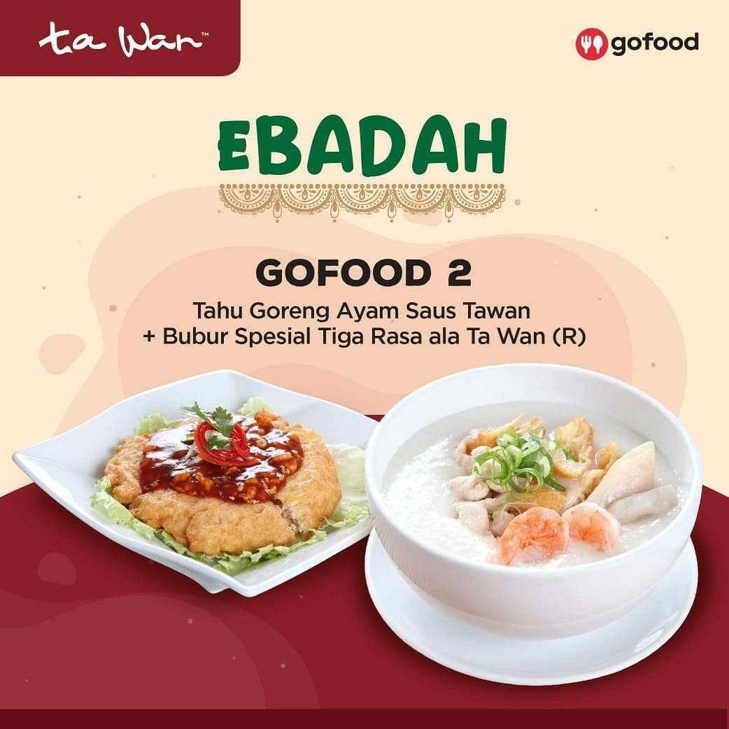 Promo diskon Promo Ta Wan Restaurant Diskon 25% Untuk Pemesanan Paket Ebadah Melalui GoFood