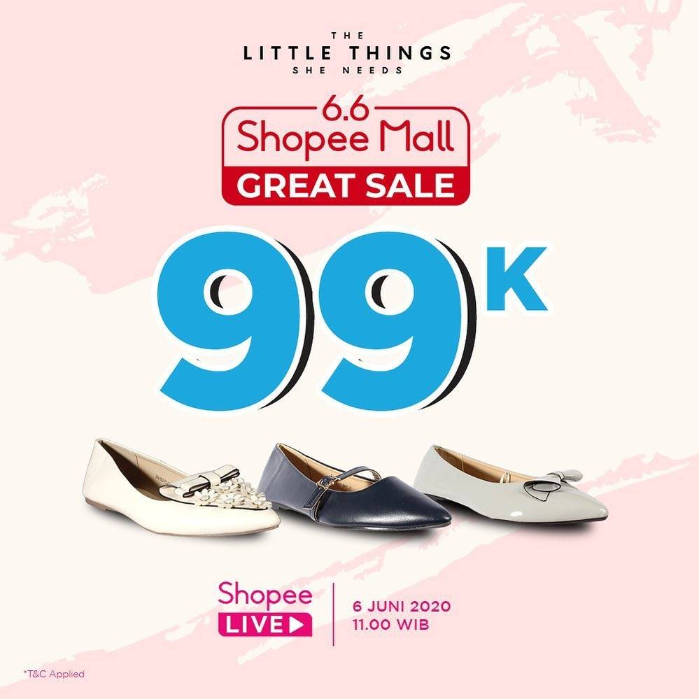 Diskon Promo The Little Things She Need 6.6 Shopee Mall Great Sale Dapatkan Harga Spesial Rp. 99.000