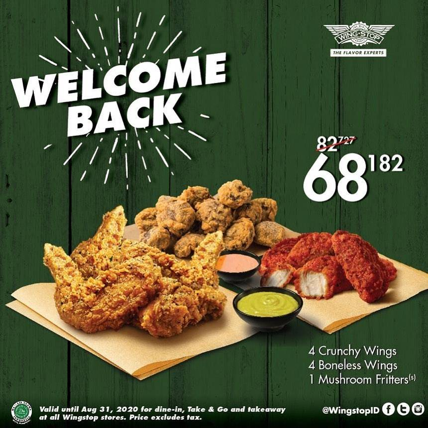 Diskon Promo Wingstop Welcome Back Package Only For Rp. 68.182