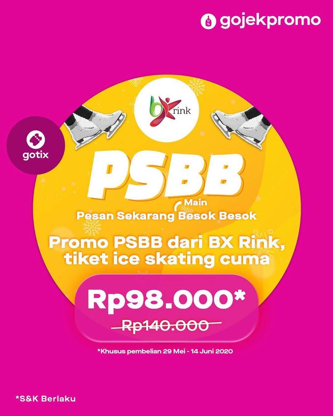 Diskon Promo PSBB Dari BX Rink Tiket Ice Skating Cuma Rp. 98.000 Untuk Pemesanan Melalui Gotix
