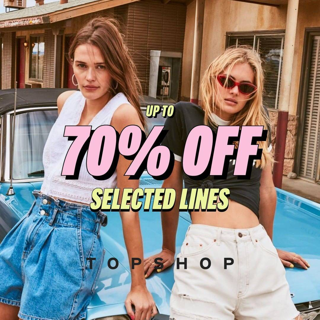 Diskon Promo Top Shop Discount Up To 70% Off For Selected Lines