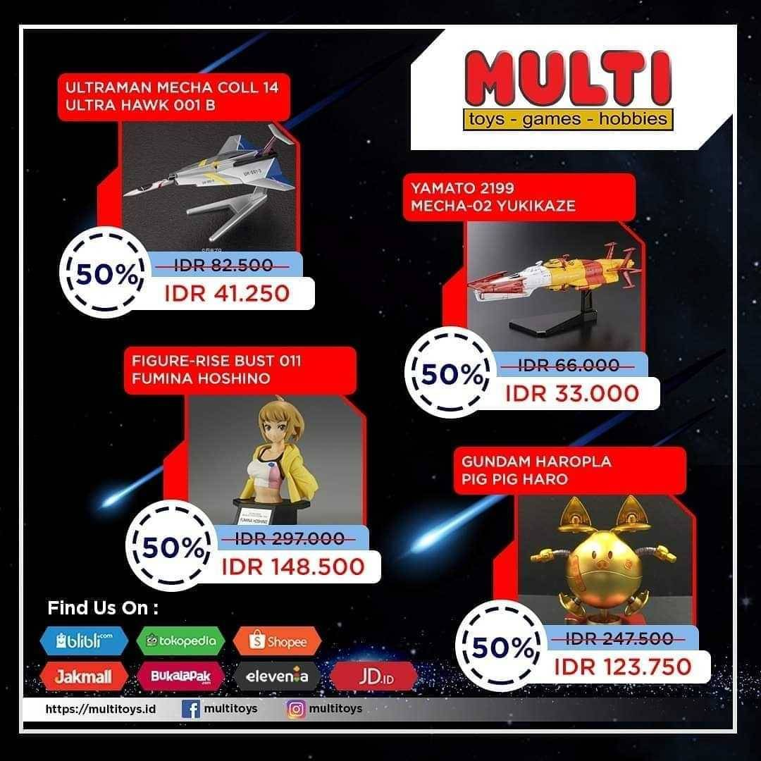Promo diskon Promo Multi Toys Special Offer Big Sale Up To 50% Off