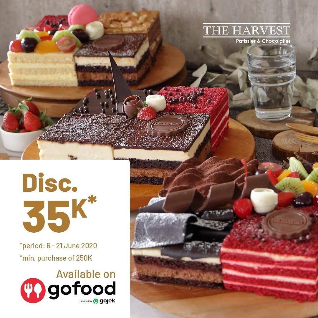 Diskon Promo The Harvest Diskon Rp. 35.000 Untuk Pemesanan Cake Favorit Melalui GoFood
