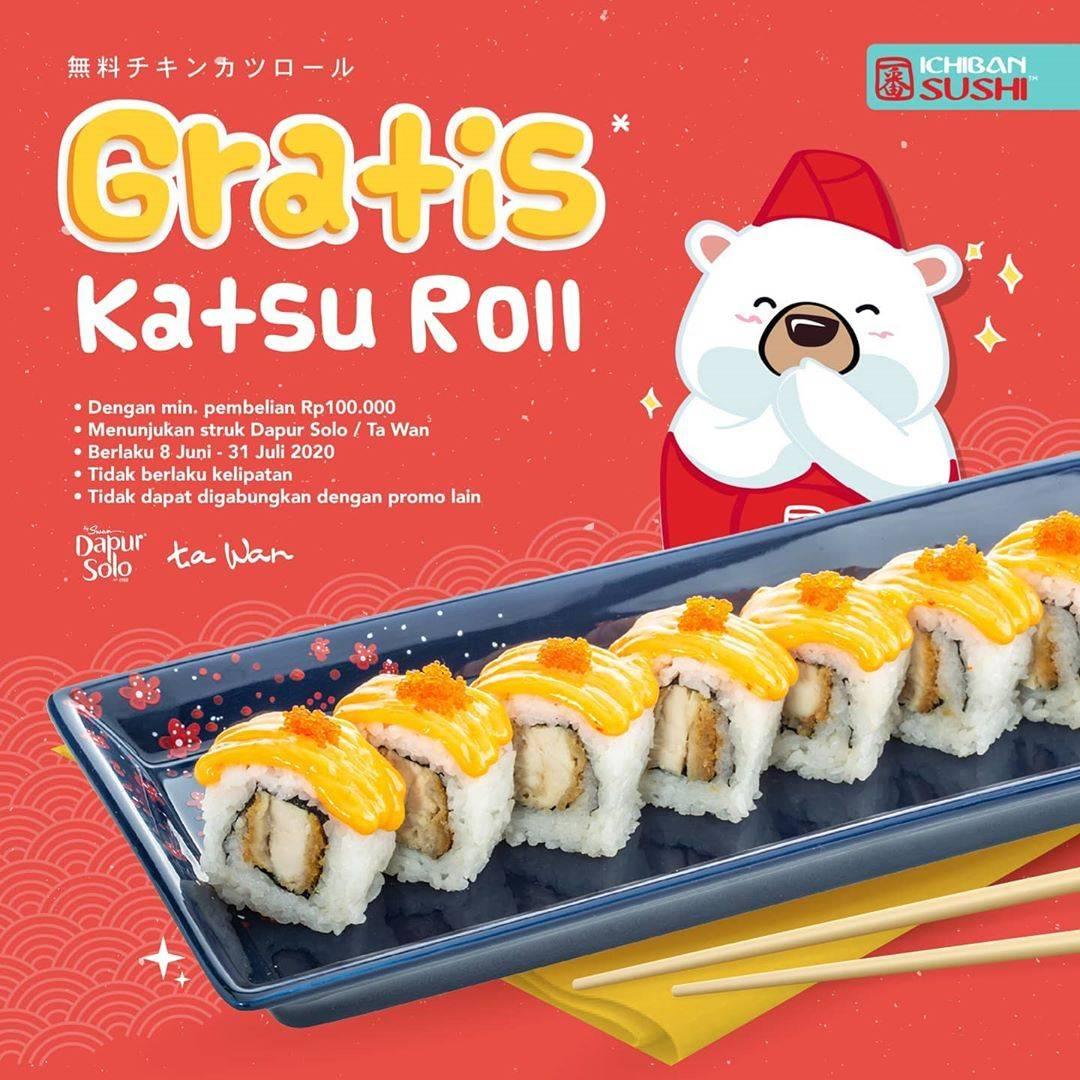 Diskon Promo Ichiban Sushi Gratis Katsu Roll