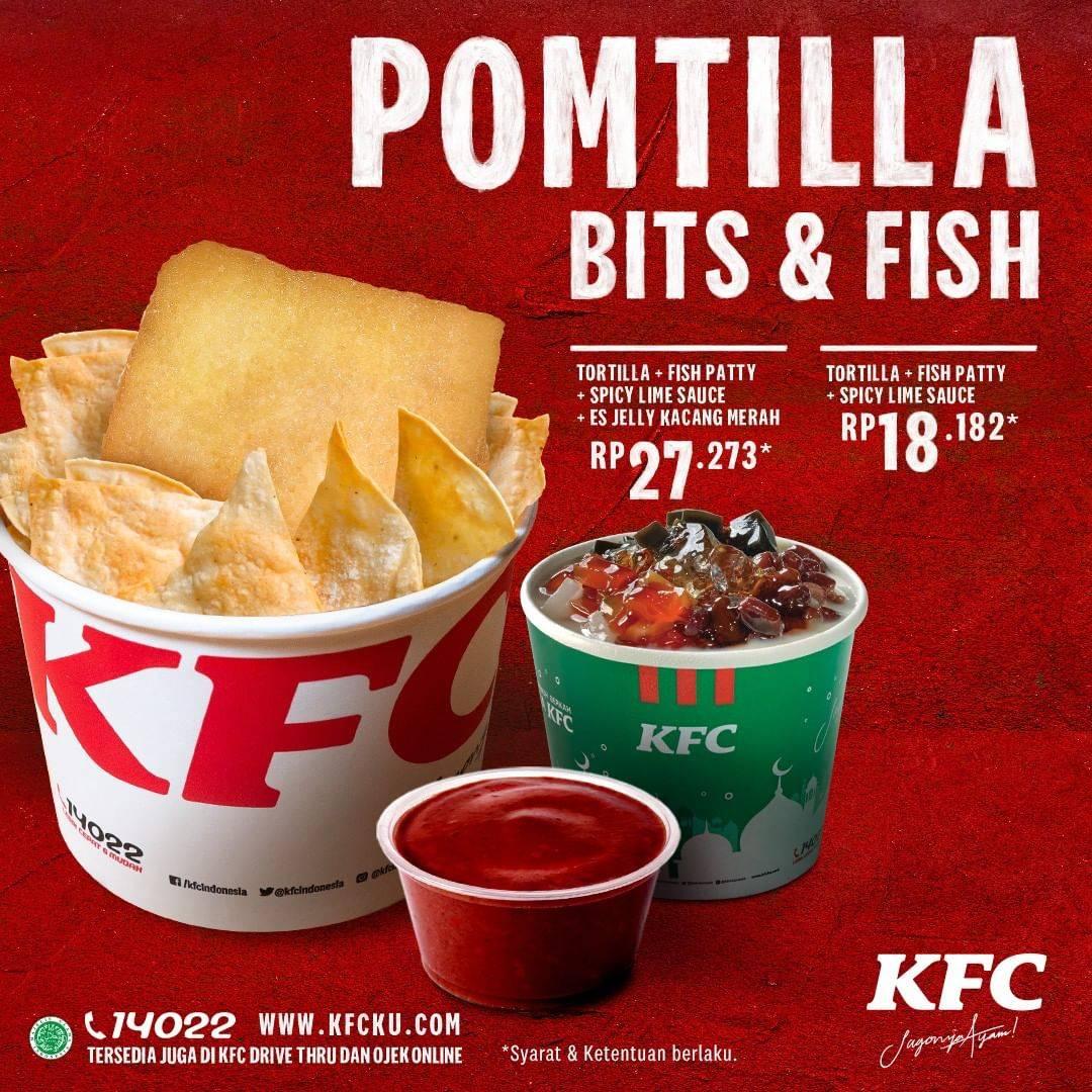 Diskon Promo KFC Pomtilla Bits & Fish Dengan Harga Mulai Dari Rp. 18.182