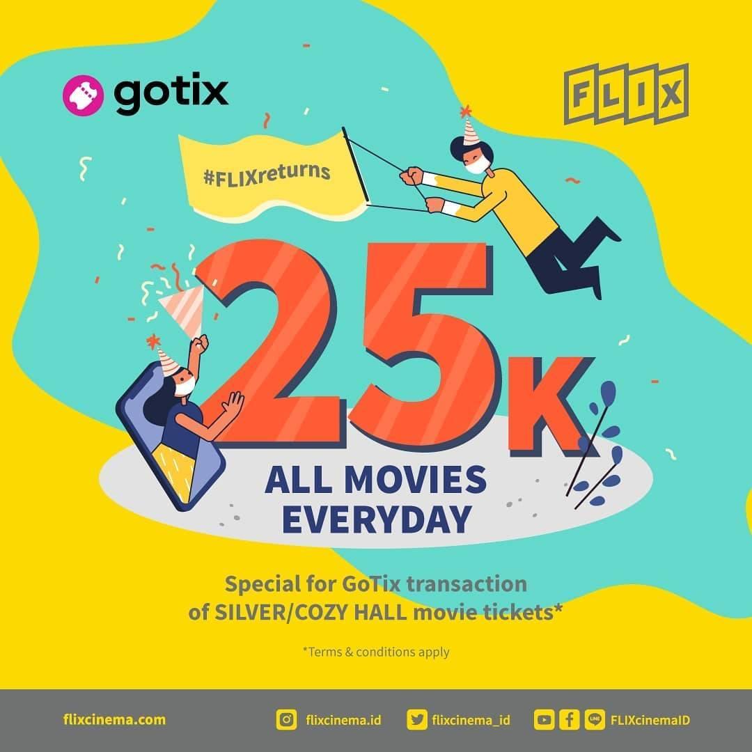 Diskon Promo Flix Pre Sale Ticket Di GoTix Cuma Rp. 25.000