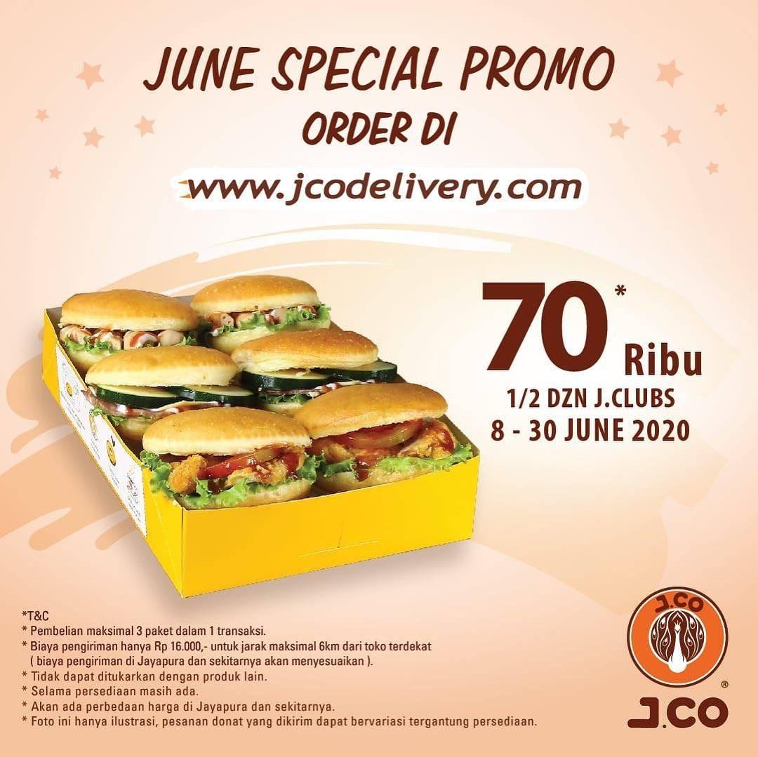 Diskon Promo J.CO 1/2 Lusin J.Clubs Hanya Rp. 70.000