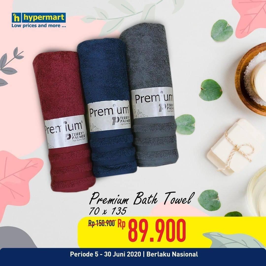Diskon Katalog Promo Hypermart Handuk Premium Periode 5 - 30 juni 2020