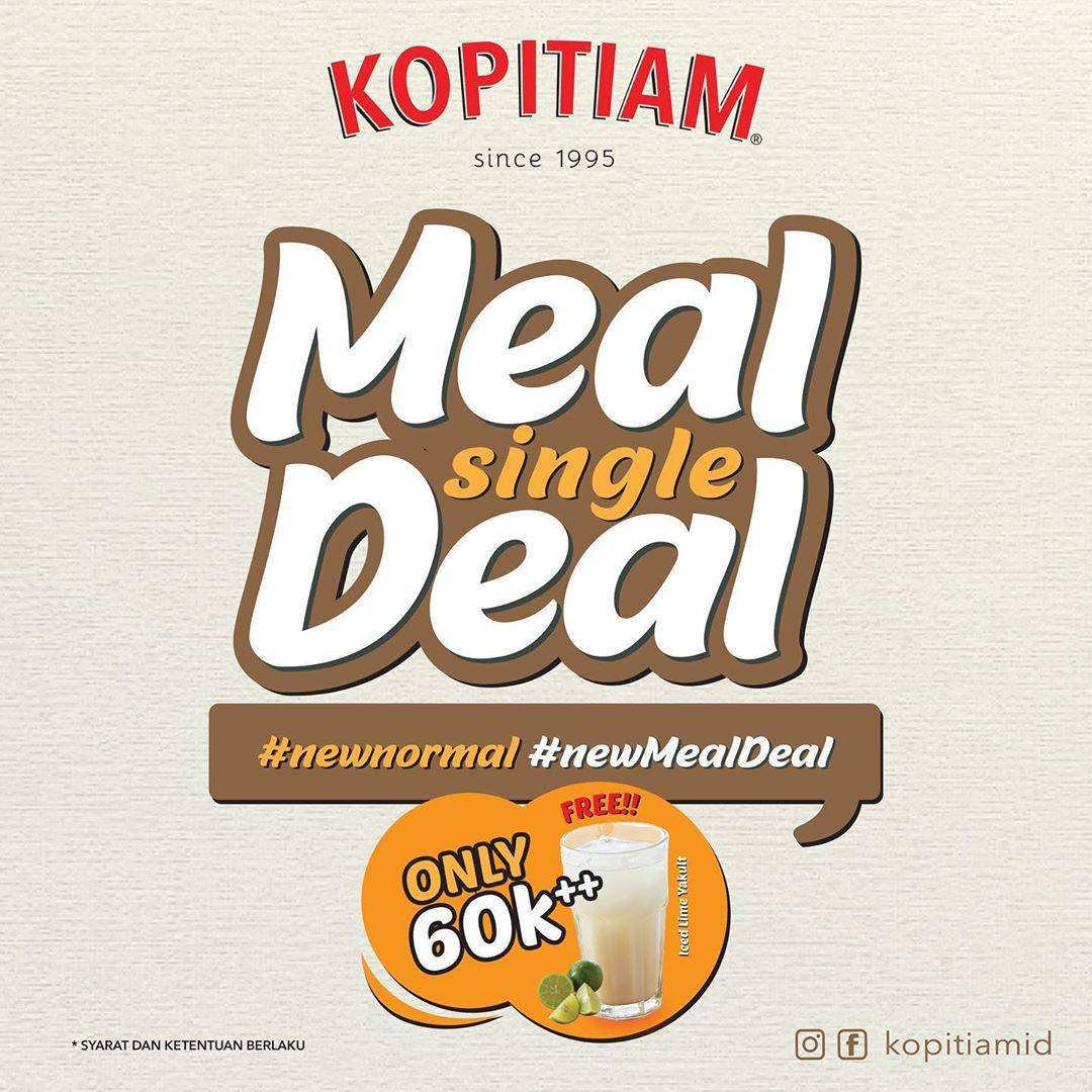 Diskon Promo Kopitiam New Meal Deal Only For Rp. 60.000++