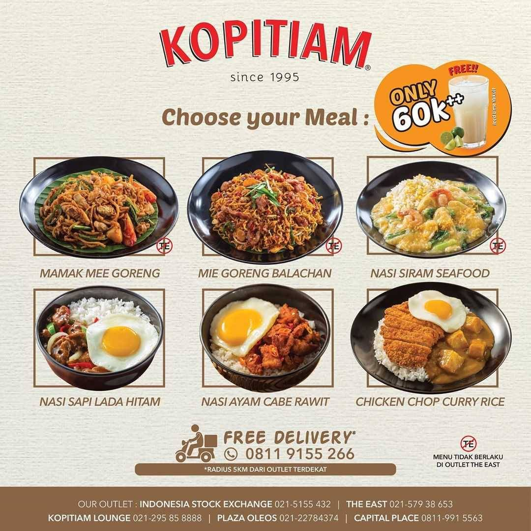 Promo diskon Promo Kopitiam New Meal Deal Only For Rp. 60.000++