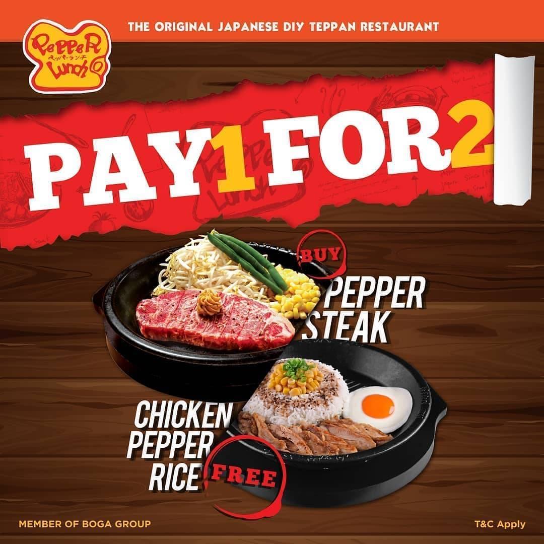 Diskon Promo Pepper Lunch Buy Pepper Steak Get Free Chicken Pepper Rice