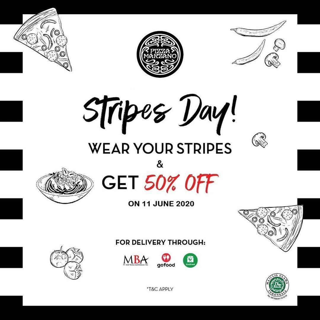 Diskon Promo Pizza Marzano Diskon 50% Untuk Item Favorit Setiap Menggunakan Baju Stripes