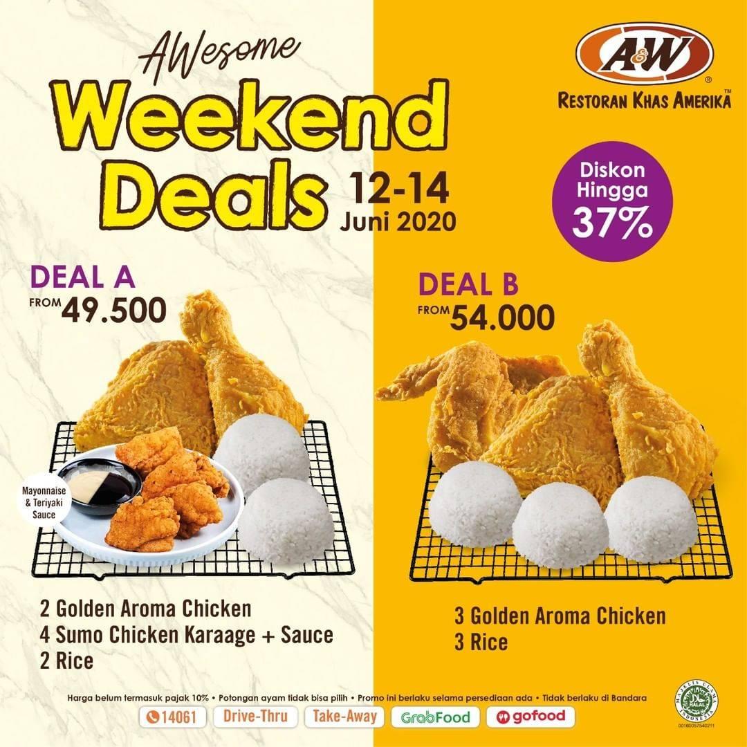 Diskon Promo A&W Restaurant Weekend Deals Dapatkan Diskon Hingga 37%