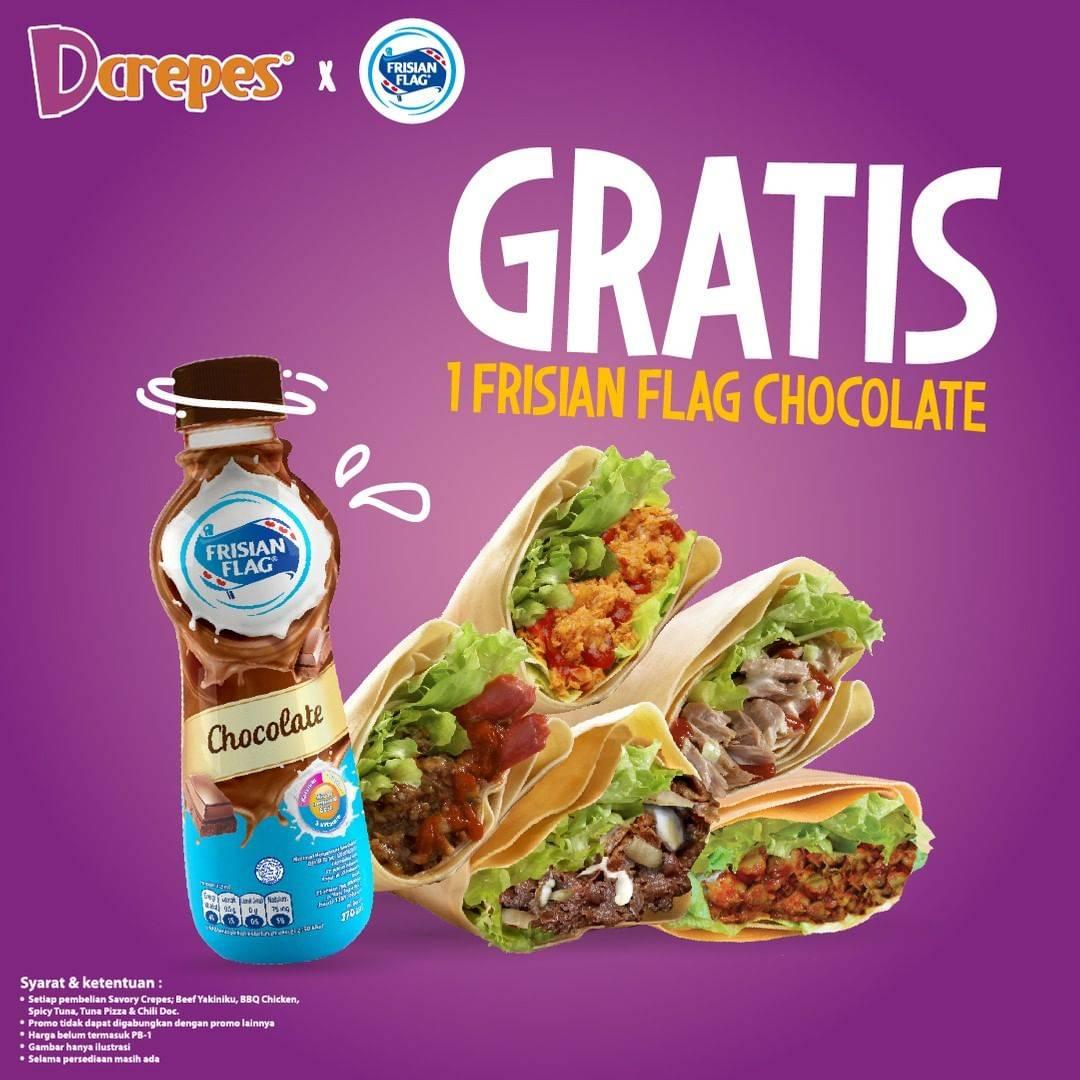 Diskon Promo Dcrepes Beli Savory Crepes Gratis Frisian Flag Chocolate