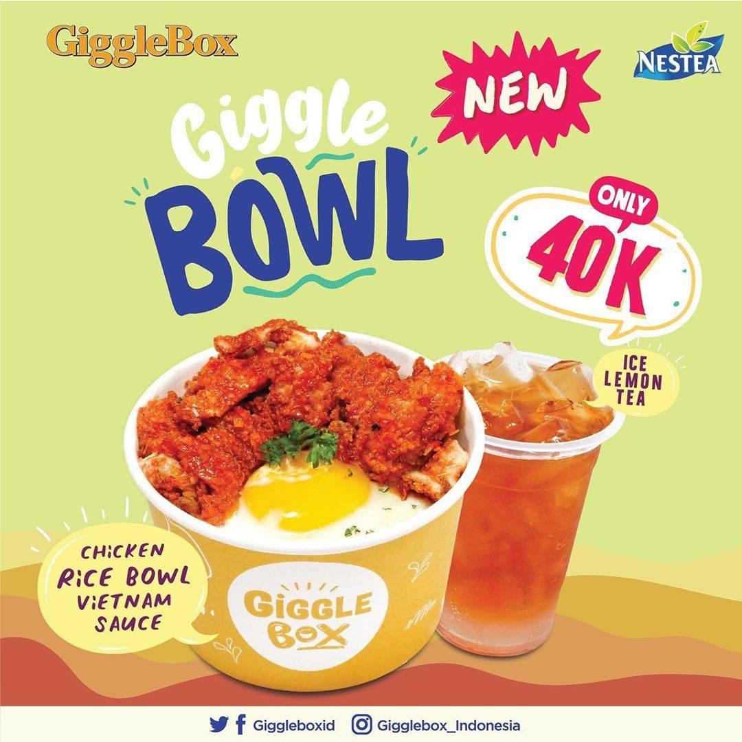 Diskon Promo Giggle Box Paket Chicken Rice Bowl + Nestea Cuma Rp. 40.000